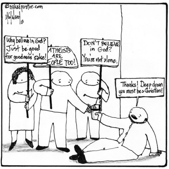atheists can be good people too cartoon by nakedpastor david hayward