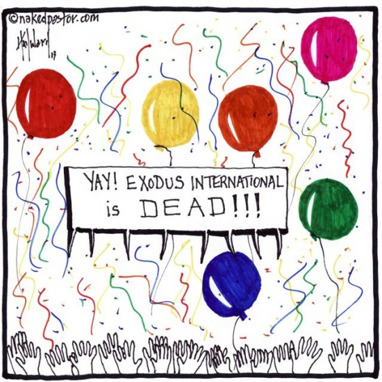 exodus international is dead cartoon by nakedpastor david hayward