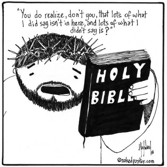 jesus and the bible cartoon by nakedpastor david hayward