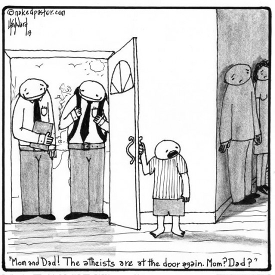 atheist evangelists cartoon by nakedpastor david hayward