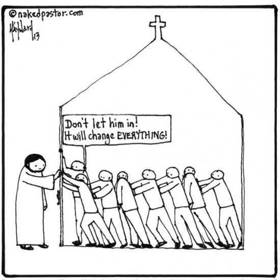 the church versus jesus cartoon by nakedpastor david hayward