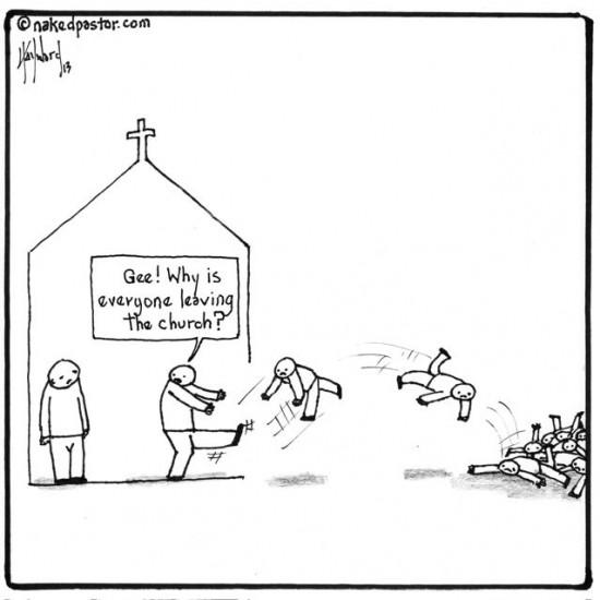 why millennials are leaving the church cartoon by nakedpastor david hayward
