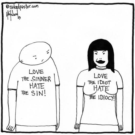 love the idiot t-shirt war cartoon by nakedpastor david hayward