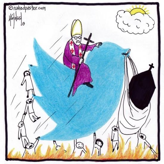 catholics twitter out of hell cartoon by nakedpastor david hayward