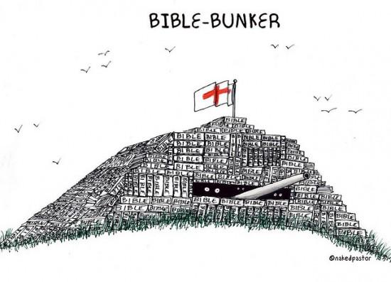 bible bunker cartoon by nakedpastor david hayward