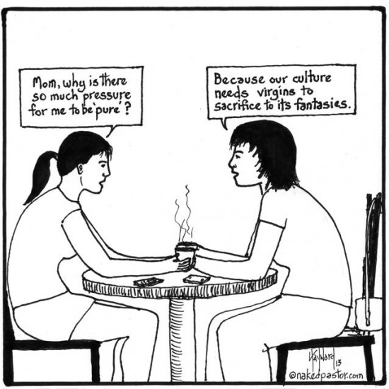 sacrificial virgins cartoon by nakedpastor david hayward