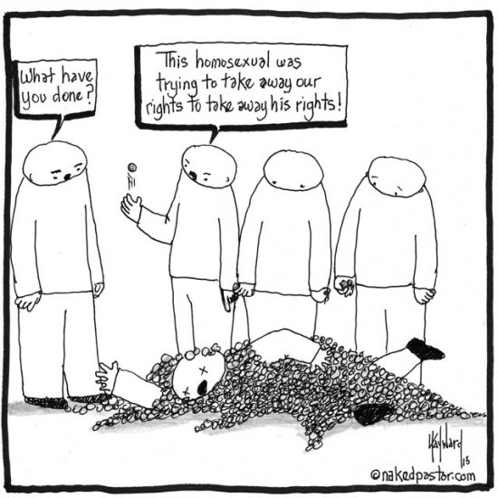gay rights cartoon by nakedpastor david hayward