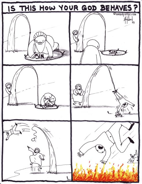 trickster god cartoon by nakedpastor david hayward