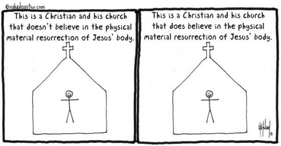 bodily resurrection cartoon by nakedpastor david hayward
