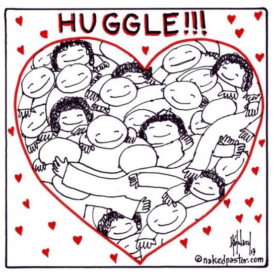 huggle cartoon by nakedpastor david hayward