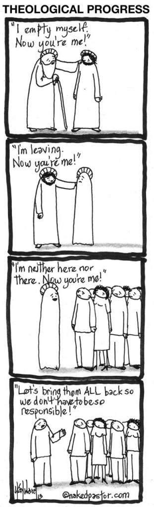 theological progress cartoon by nakedpastor david hayward