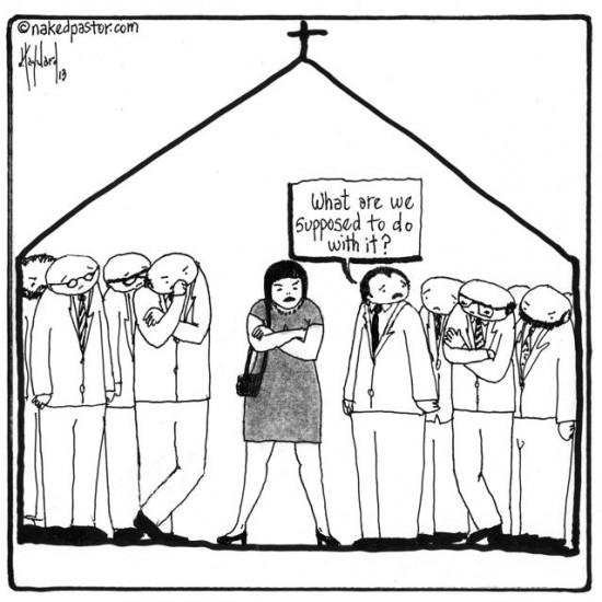 problem of women in the church cartoon by nakedpastor david hayward