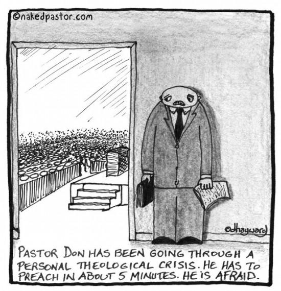 pastor afraid to preach cartoon by nakedpastor david hayward