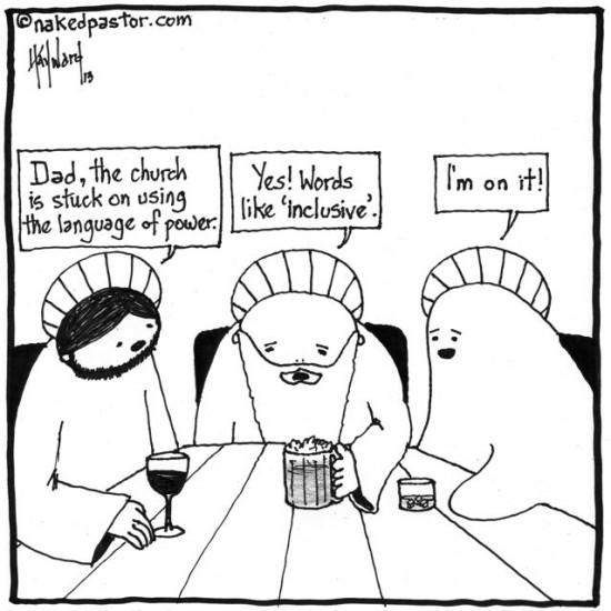 the church's use of the language of power cartoon by nakedpastor david hayward