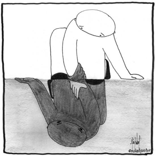 light and dark cartoon by nakedpastor david hayward