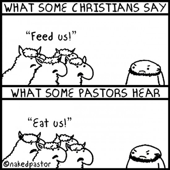 feed don't eat my sheep cartoon by nakedpastor david hayward