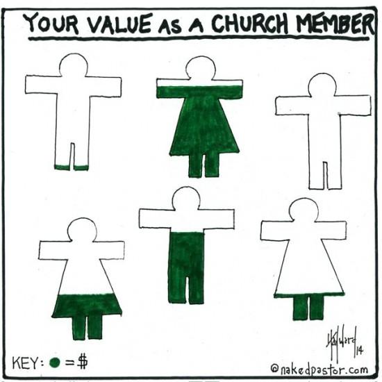 value church member cartoon by nakedpastor david hayward