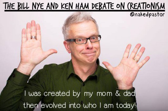 bill nye ken ham debate creationism cartoon by nakedpastor david hayward