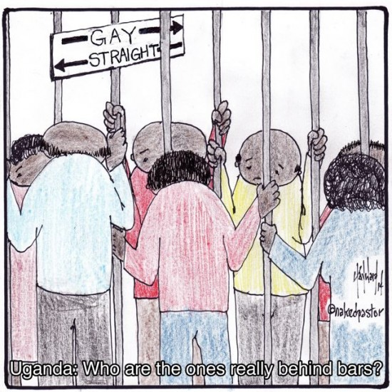 uganda gays behind bars cartoon by nakedpastor david hayward
