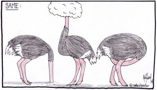 denial and ostrich postures by nakedpastor david haywarsd