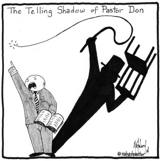 pastor shadow lion tamer cartoon by nakedpastor david hayward