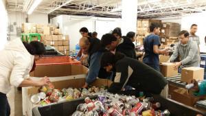 Bharatiya Temple of Metropolitan Detroit SEVA Committee Volunteers at Work at Gleaners Community Food Bank