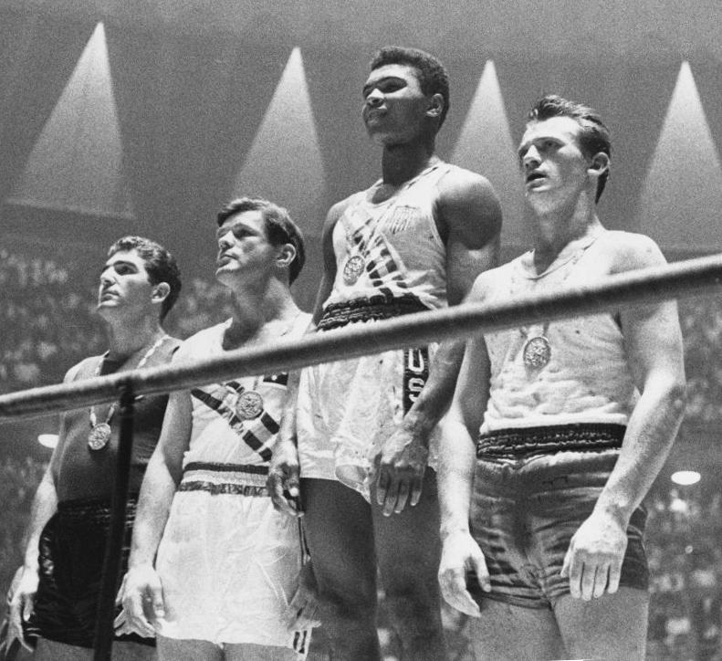 Ali at the 1960 Olympics. Public domain.