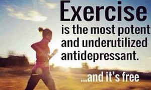 help cure depression by exercise