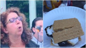 I am happy to report there was no lanyard-making, but there were s'mores!