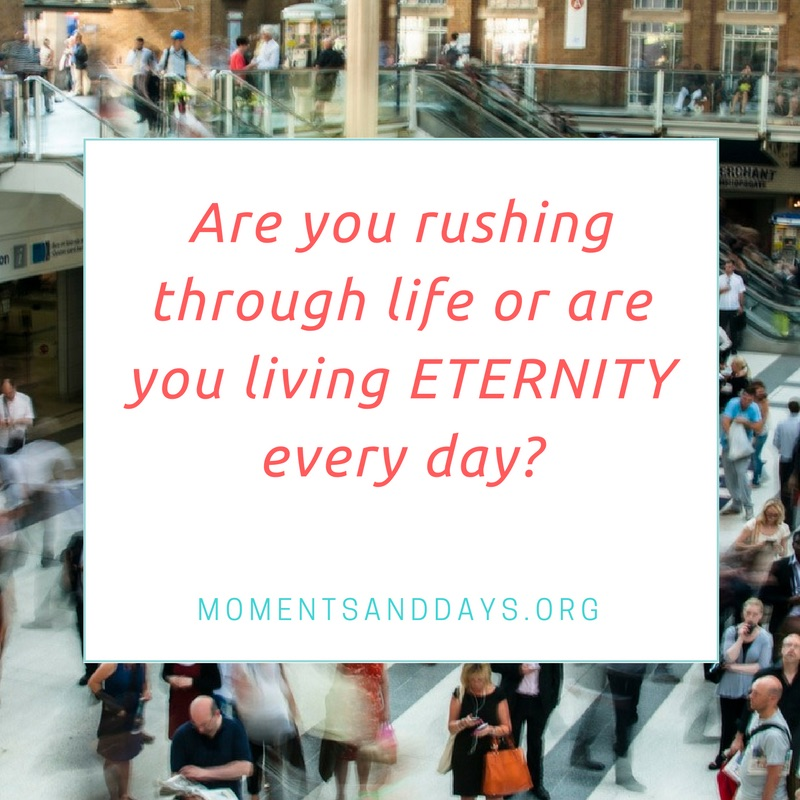 Are you rushing through life