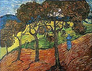 Farmer in a Field, Vincent Van Gogh; public domain