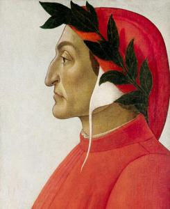 Dante, by Botticelli, public domain