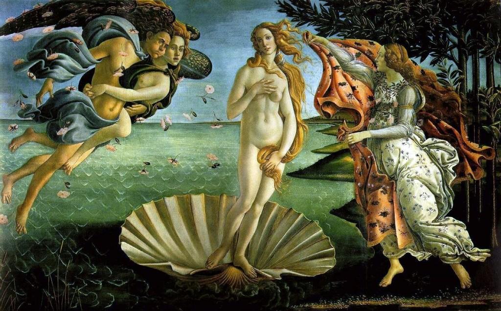The Birth of Venus - Image via Wikimedia Commons