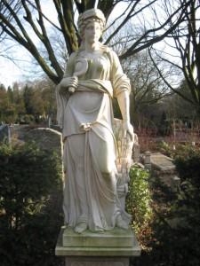 Standbeeld van Demeter op Zorgvlied (begraafplaats) in Amsterdam - Image by Ilonamay, 2009, CC license 3.0