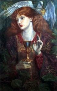 """""""The Damsel of the Sanct Grael"""" by Rossetti - Image via Wikimedia Commons"""