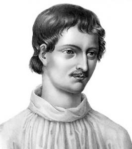 "Giordano Bruno - Portrait from ""Livre du recteur"" (1578)"
