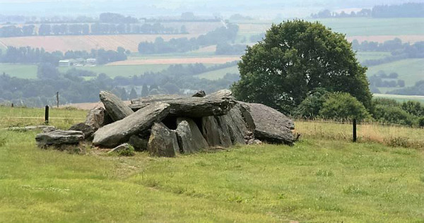 Neolithic burial chamber, in Brittany.