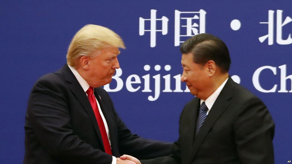 President Donald Trump and Chinese President Xi Jinping XXXXXXX at the Great Hall of the People, Thursday, Nov. 9, 2017, in Beijing, China. Trump is on a five country trip through Asia traveling to Japan, South Korea, China, Vietnam and the Philippines. (AP Photo/Andrew Harnik)