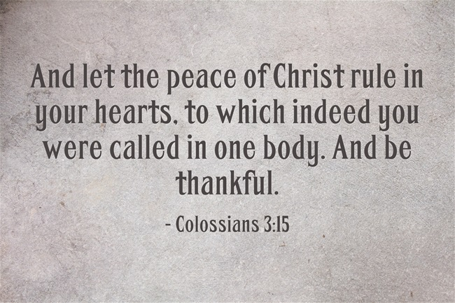 Peace in the Bible Scriptures