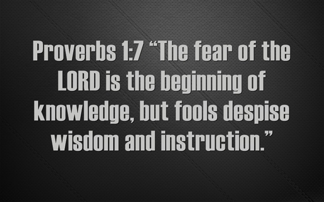 Lessons From Proverbs