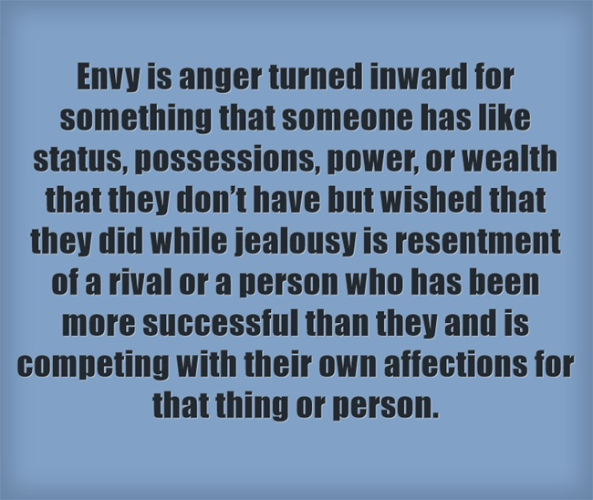What is the Difference Between Jealousy and Envy in the