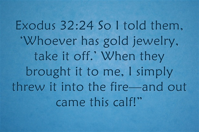 Golden Calf Bible Story