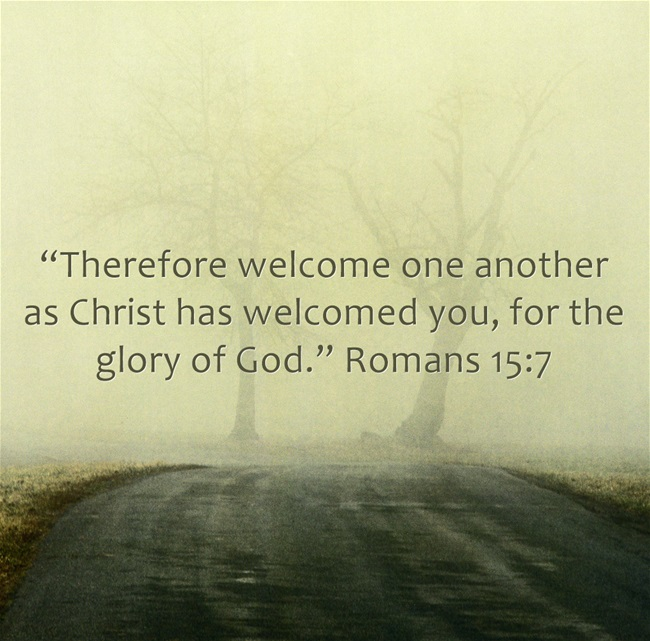 Bible verses about welcoming others