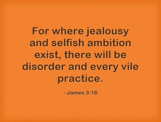 what does the bible say about jelousy