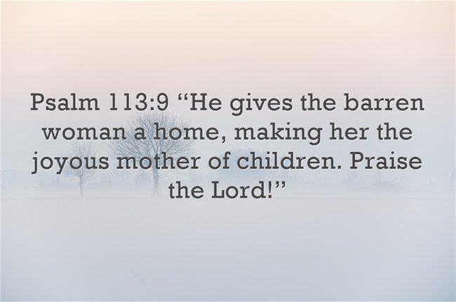 Bible verses about Barren Women