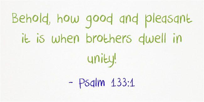 A Sunday School Lesson On Unity | Jack Wellman