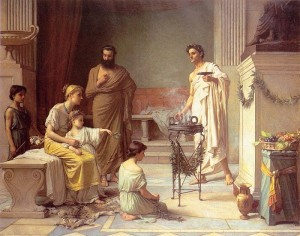 Temple of Aesculapius, Waterhouse