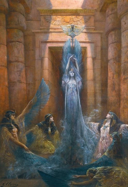 Georges Jules Victor Clairin - The Goddess Neith (La déesse Neith) circa 1843-1919