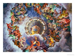 giulio-romano-the-gods-of-olympus-trompe-l-oeil-ceiling-from-the-sala-dei-giganti-1528