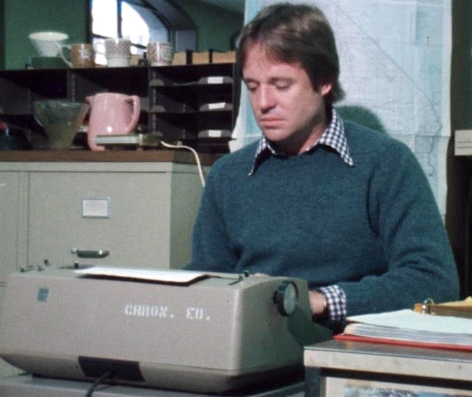 """Armistead Maupin writing """"Tales of the City"""" serial for the San Francisco Chronicle"""